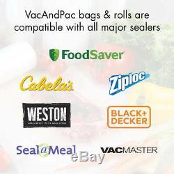 15 GIANT ROLLS 11 x 50' Case Food & Storage Vacuum Sealer Bags