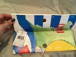 $248 RARE Kate Spade Via Limoni Vivi Clutch Bella Rolled Magazine Bag Purse NEW