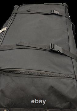 36-INCH Travel Rolling Wheel Duffel Duffle Bag by Amaro Black ONE BAG