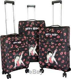 3Pc Luggage Set Travel Bag Rolling 4Wheel CarryOn Expandable Upright Betty Boop