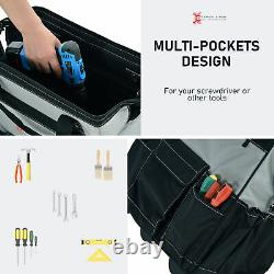 3pcs Rolling Mobile Tool Bag Heavy Duty Storage Organizer Multi-function Tote
