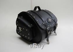 40x34x29h Siberia 40K, PU Leather, Motorcycle Roll Bag, Sissy Bar