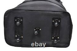4-Pack 36 Black Lightweight Rolling Wheeled Duffle Bag Spinner Suitcase Luggage