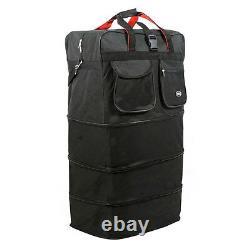 4-Pack 8-Wheel 36 Black Rolling Wheeled Duffle Bag Spinner Suitcase Luggage