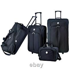 4 Piece Luggage Set Expandable And Carry On With Blade Wheels Rolling Duffel Bag