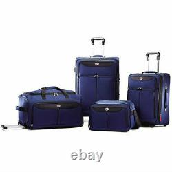 4 Piece Luggage Set Travel Carry On Bag Vacation Trip Suitcase Rolling NEW