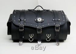 50x34x29h Siberia 50 K, PU Leather, Motorcycle Roll Bag, Sissy Bar
