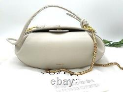 AUTH NWT Yuzefi Dinner Roll Chain Crossbody Shoulder Leather Bag In Off White