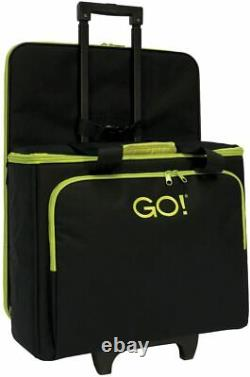 Accuquilt GO Fabric Cutter Tote & Die Bag Trolley Rolling Case Black