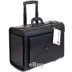 Alpine Swiss Rolling 17 Laptop Briefcase on Wheels Attache Lawyers Case