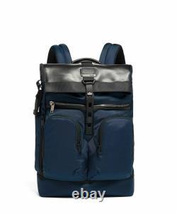 BRAND NEW Tumi Alpha Bravo London Roll Top Laptop Backpack Navy Blue