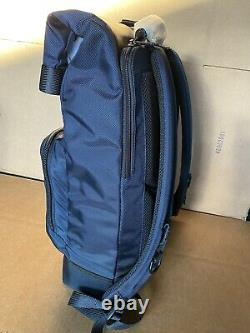 BRAND NEW Tumi Alpha Bravo London Roll Top Laptop Backpack Navy Blue 232388
