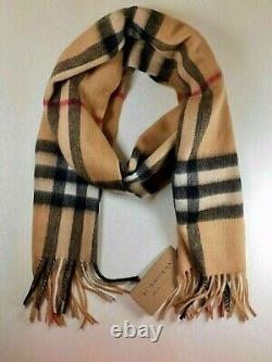 BRAND NEW WITH TAGS BURBERRY Scarf Check Roll Tube Box BAG 100% Authentic