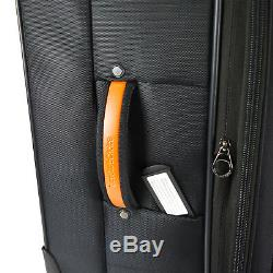 Birmingham Black 25 29 Water Resistant Rugged Rolling Luggage Suitcase Bag Set