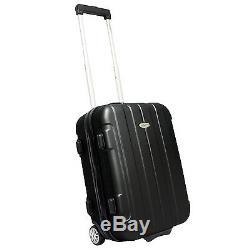 Black Rome Hardside 3pc Spinner Rolling Luggage Suitcase Wheeled Travel Bag Set