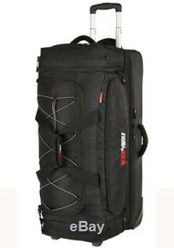 Black Wolf Bladerunner Rolling Travel Bag 110L + 30L Black