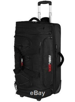 Black Wolf Bladerunner Rolling Travel Bag 80L + 20L Black