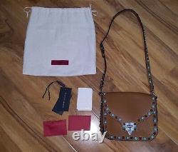 Bn With Receipt Valentino Tan Brown Small Rolling Rock Stud Bag Harvey Nichols