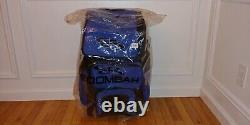 Boombah Hybrid Rolling Wheeled Handle Baseball Bat Bag, Black/Royal Blue