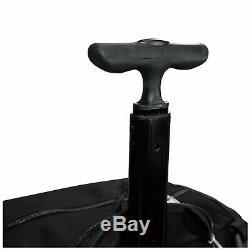 Boombah Rolling Wheeled Handle Superpack Baseball/Softball Gear Bat Bag Black