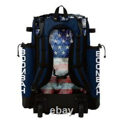 Boombah Superpack Hybrid Rolling Wheeled Baseball/Softball Bat Bag USA/Patriot