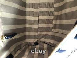 Brahmin Claire Sky Berwick Speedy Roll Barrel Bag NWT $355 FAB Studs & Tassels