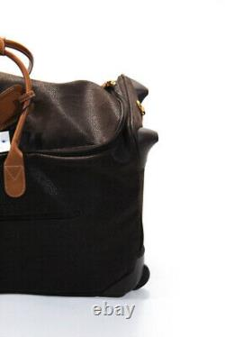 Bric's Leather Duffel Bag Rolling Luggage Brown 26