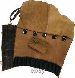 Buffalo Leather Knife Roll Storage Bag Travel-Friendly Chef Knife Case Roll