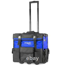 CONSTRUCTION HEAVY DUTY Rolling Tool Bag Tote With Pop Up 20 Handle Wheels