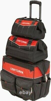 CRAFTSMAN 3-Piece Rolling Tool Bag Storage Pack CMST518103