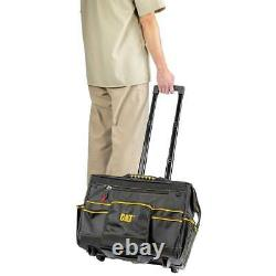 Cat 18 in. Pro Rolling Tool Bag 18 Pockets Heavy Duty 1680D Polyester 980198N