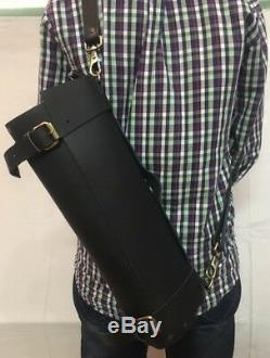 Chef-knife-roll-bag in Leather Black