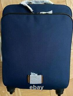 Coach 22 Carry-On Suitcase Luggage Rolling Travel Bag F68846 Navy Blue