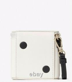 Collectible NWT Kate Spade 3D ROLL THE DICE Leather Polka Dot Dice Wristlet Bag