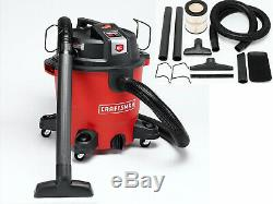 Craftsman XSP Wet/Dry Vacuum Set, Portable Rolling Vac 12 Gallon Gal 5.5 Peak HP