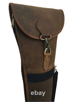 Distressed Leather Shotgun Slip Case Lightweight Roll-up Gun Case