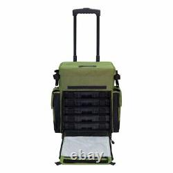 Elkton 12 Outdoors Rolling Fishing Tackle Box Bag