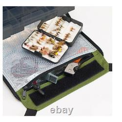 Elkton Outdoors Rolling Fishing Tackle Box Bag with 5 Removable Tackle Trays