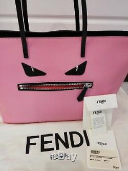 FENDI roll bag monster tote leather pink 8BH185-68B