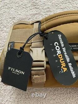 Filson Alcan Tim Cloth Tool Roll Dark Tan One Size Nwt