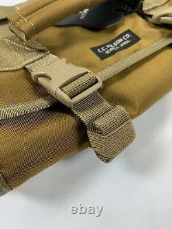Filson Alcan Tin Cloth Tool Roll Dark Tan One Size Nwt