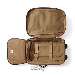 Filson Leather & Tin Cloth Rolling Carry-On Bag / Luggage / Duffle