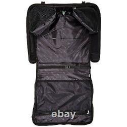 Folding Garment Bag Luggage Carry Suitcase Travel Wheels Rolling Wheeled Case