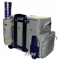 GPS TACTICAL Rolling Range Bag with Foam Pistol Cradle, Holds 10 Handguns, Tan