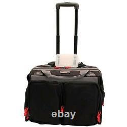 G-Outdoors GPS-2215RB G. P. S. Black Large Rolling Range Bag Multi-Pocket Pack