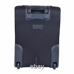 Gianfranco Ferre Milano Unisex Black Carry On Rolling Travel Suitcase Bag