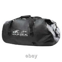 Grundens Gage 105L Shackelton Duffel Bag Black 100% Waterproof Roll Top