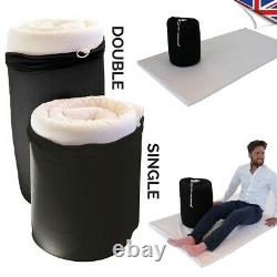 HGV Easy To Wash Roll Out Memory Foam Mattress Topper Single Double Cover &Bag