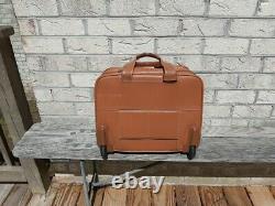 Hartmann rolling leather briefcase