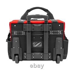 Husky Rolling Tool Tote Bag Zipper Red Polyester Heavy Duty Storage Organizer